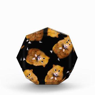 Fuzzy Hamster Pattern on Black, Original Art Acrylic Award