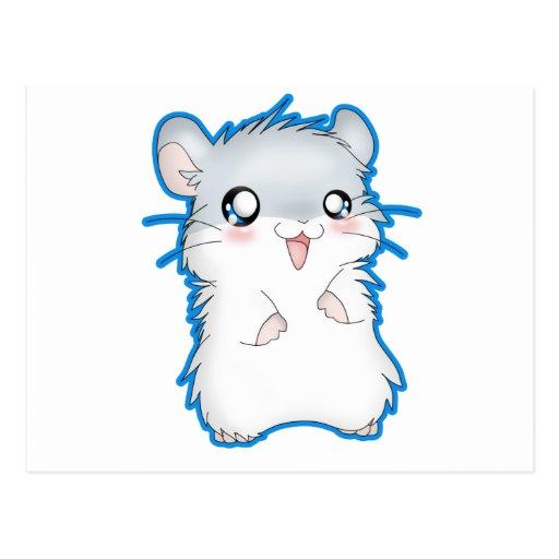 Fuzzy Hamster Postcard