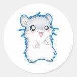 Fuzzy Hamster Round Sticker