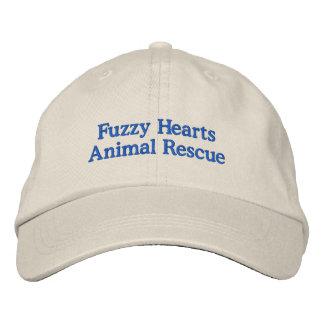 Fuzzy Hearts Adjustable Hat