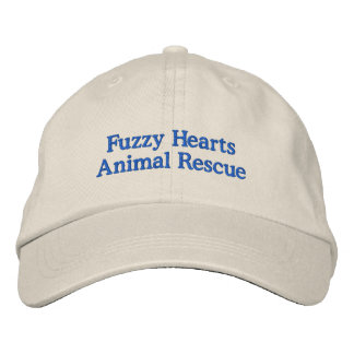 Fuzzy Hearts Adjustable Hat Embroidered Baseball Cap