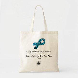Fuzzy Hearts Tote Bag