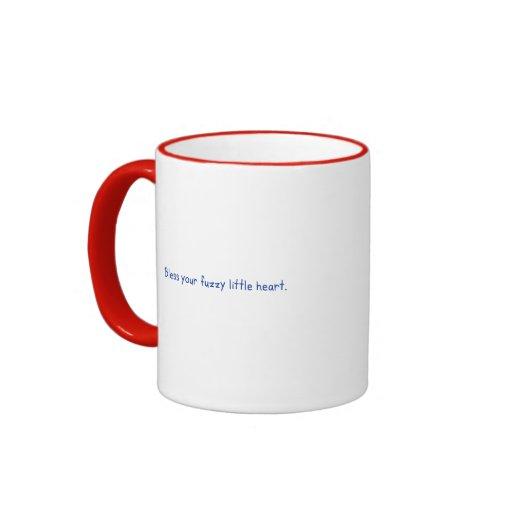 FUZZY LITTLE HEART by Boynton Ringer Coffee Mug
