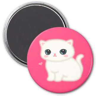 Fuzzy Little Thing 3 Inch Round Magnet