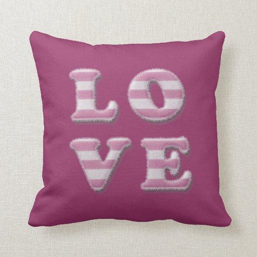 fuzzy love pillows