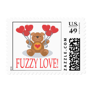 Fuzzy Love Postage Stamps