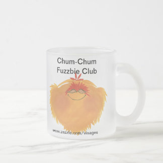 Fuzzy Monster Cartoon Character Frosted Glass Coffee Mug