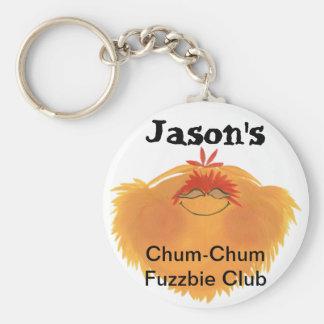 Fuzzy Monster Cartoon Character Keychain
