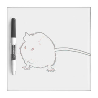 fuzzy mouse outline washing animal dry erase board