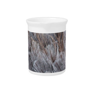 Fuzzy Natural Feather Pattern Drink Pitchers