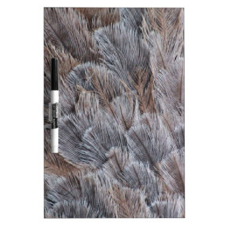 Fuzzy Natural Feather Pattern Dry Erase Board