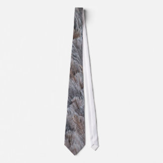 Fuzzy Natural Feather Pattern Tie