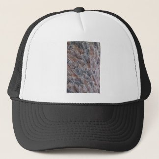 Fuzzy Natural Feather Pattern Trucker Hat
