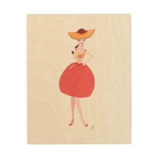 "Fuzzy Navel ""Cocktail"" Dress Wood Print"