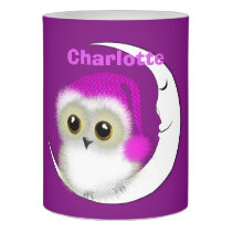 Fuzzy Night Owl Sleepover Personalized Flameless Candle
