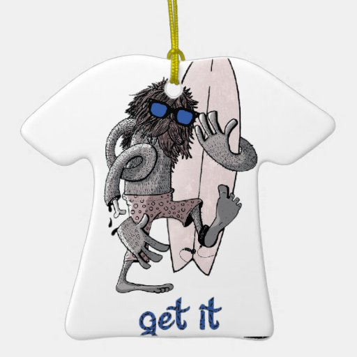 Fuzzy Double-Sided T-Shirt Ceramic Christmas Ornament