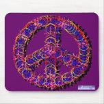 Fuzzy Peace Mousepad