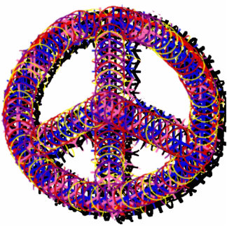 Fuzzy Peace Photo Sculpture