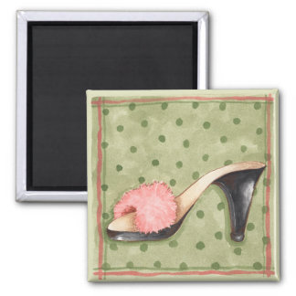 Fuzzy Pink Shoe - Magnet
