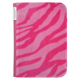 Fuzzy Pink Zebra Stripes Kindle Keyboard Case