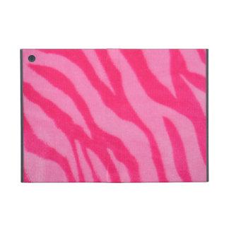 Fuzzy Pink Zebra Stripes Case For iPad Mini