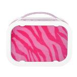 Fuzzy Pink Zebra Stripes Lunchboxes