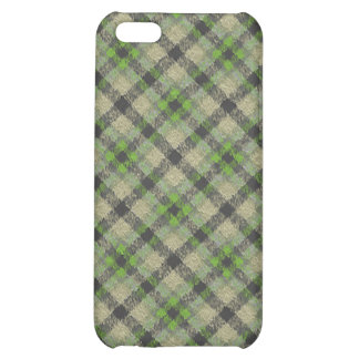 Fuzzy Plaid Green iPhone 5C Covers