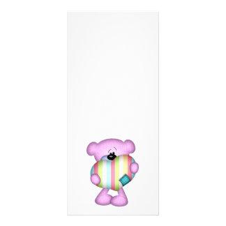 fuzzy purple stripes heart love bear rack cards