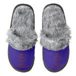 [Crown] keep calm and eat ice-cream  (Fuzzy) Slippers Pair Of Fuzzy Slippers