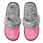 [Crown] keep calm and love hunter hayes  (Fuzzy) Slippers Pair Of Fuzzy Slippers