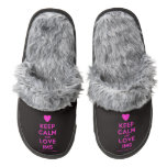 [Love heart] keep calm and love im5  (Fuzzy) Slippers Pair Of Fuzzy Slippers