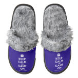 [Campervan] keep calm and camp on  (Fuzzy) Slippers Pair Of Fuzzy Slippers