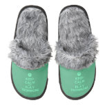 [Smile] keep calm and play trombone  (Fuzzy) Slippers Pair Of Fuzzy Slippers