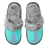 [Cupcake] keep calm and love cupcakes  (Fuzzy) Slippers Pair Of Fuzzy Slippers