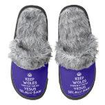 [Crown] keep woles dan katakan yesus selalu baik  (Fuzzy) Slippers Pair Of Fuzzy Slippers
