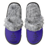 [Crown] keep calm and eat darling  (Fuzzy) Slippers Pair Of Fuzzy Slippers