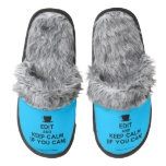 [Cup] edit and keep calm (if you can)  (Fuzzy) Slippers Pair Of Fuzzy Slippers