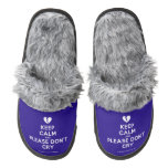 [Broken heart] keep calm and please don't cry  (Fuzzy) Slippers Pair Of Fuzzy Slippers