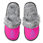[Crown] keep calm i'm a pisces  (Fuzzy) Slippers Pair Of Fuzzy Slippers