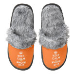 [Crown] keep calm and #hope 2013  (Fuzzy) Slippers Pair Of Fuzzy Slippers