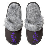 [Crown] keep calm and rep msfts  (Fuzzy) Slippers Pair Of Fuzzy Slippers