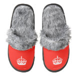 [Crown]  (Fuzzy) Slippers Pair Of Fuzzy Slippers