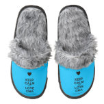[Love heart] keep calm and love cma  (Fuzzy) Slippers Pair Of Fuzzy Slippers