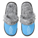 [Crown] stai calm si da like pozei  (Fuzzy) Slippers Pair Of Fuzzy Slippers