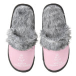 [Dancing crown] bly kalm en wees n *drama queen*  (Fuzzy) Slippers Pair Of Fuzzy Slippers