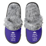 [Moustache] keep calm and love peha  (Fuzzy) Slippers Pair Of Fuzzy Slippers