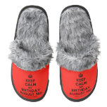[Crown] keep calm my birthday august 3rd  (Fuzzy) Slippers Pair Of Fuzzy Slippers