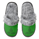 [No sign] keep calm and don't stay away from me  (Fuzzy) Slippers Pair Of Fuzzy Slippers