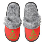 [Cutlery and plate] keep calm and don't eat my face  (Fuzzy) Slippers Pair Of Fuzzy Slippers
