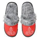 [Crown] keep calm and where the fuck did you come from?!  (Fuzzy) Slippers Pair Of Fuzzy Slippers